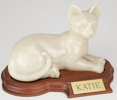 Faithful Feline Urn
