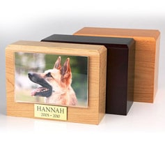 Hardwood photo urns